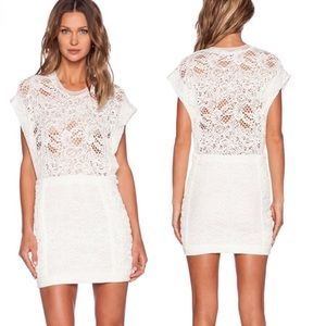 Iro lace floa dress tube crochet white